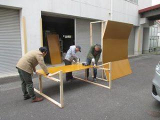 四日市・楠楽友協会、第8回演奏会に向けて反響板を製作しました!