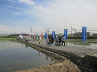 5月12日(土)、「田んぼアート」で田植えを体験しました!