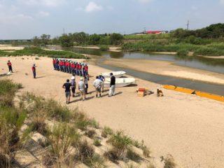 8月5日(日)、鈴鹿川水難救助訓練の報告