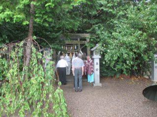楠郷総社・靖国神社にて戦没者慰霊祭を行った