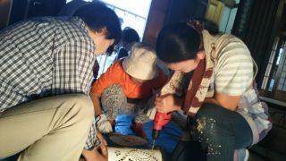 楠歴史民俗資料館保存運営委員会竹灯り教室を開催しました。