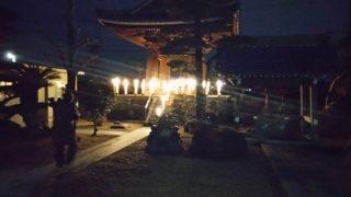 大晦日に南川聖洞寺鐘つき堂で竹灯り展示します。