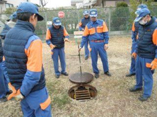 防火水槽の点検