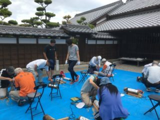令和元年初の竹灯り教室の催し