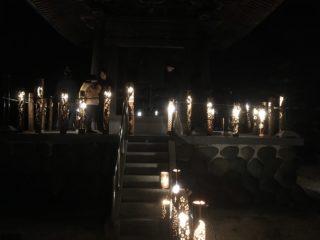 南川聖洞寺大晦日除夜の鐘と竹灯りのコラボ
