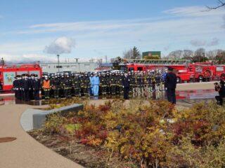四日市市消防団観閲式、表彰式、特別消防訓練